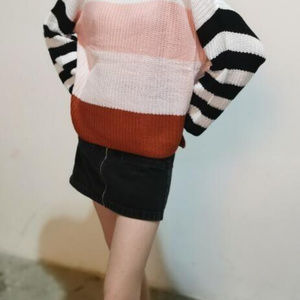 Long Sleeve Knit Pullover Sweater
